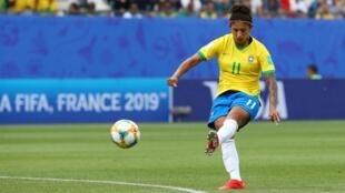 Cristiane, atleta brasileira marcou três golos frente à Jamaica.