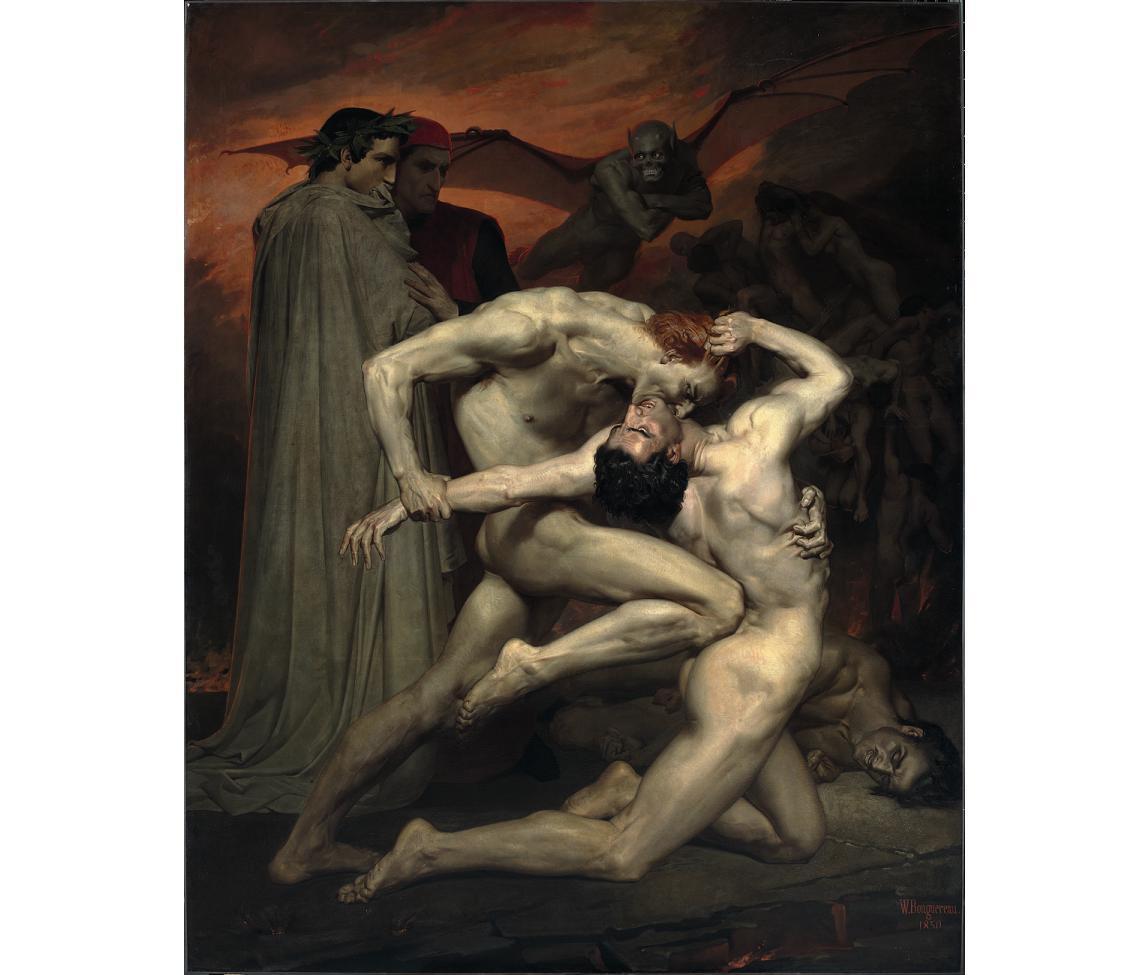 Бугеро. Данте и Вергилий в аду
