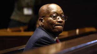 Jacob Zuma devant la Haute Cour de Justice de Pietermaritzburg le 27 juillet 2018.