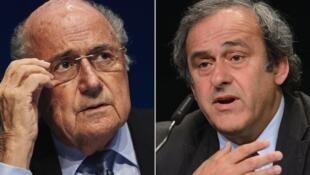 Sepp Blatter na Mitchel Platini