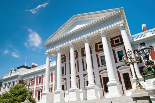 Le parlement sud-africain à Cape Town.