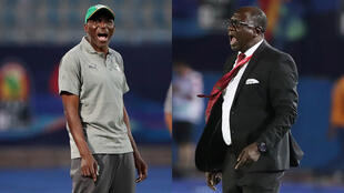 Cote d'Ivoire coach Ibrahim Kamara (left) and his Mali counterpart Mohamed Magassouba are attempting to reach their first quarter-finals at the Africa Cup of Nations.