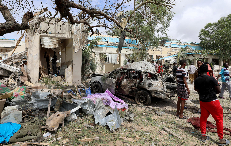 Une explosion a frappé la ville de Mogadiscio, Somalie, le 10 septembre 2018.