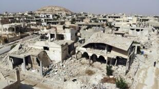 Yankin kewayen lardin Idlib da sojin Syria suka kaiwa 'yan tawaye farmaki mai makwabtaka da lardin Hama.