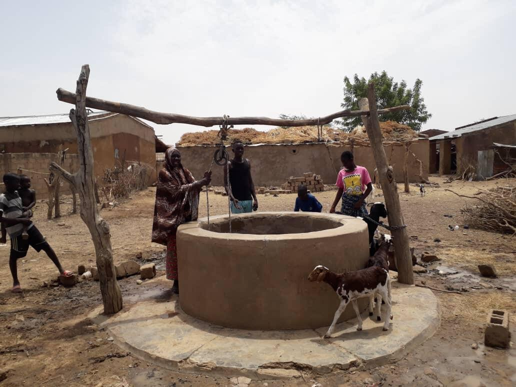 In the remote village of Oueloguela, Mali, where there is no running water nor electricity, this well provides water to several households.