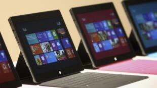 La nouvelle tablette de Microsoft a été présenté lors d'un point presse « à la Steve Jobs », lundi 18 juin 2012 à Los Angeles.