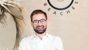 Christophe Kaczmarek, fondateur de la marque French Beaches. Photo Joanna Margan