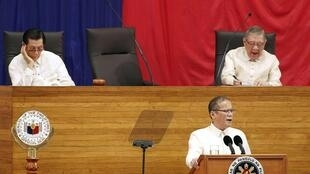 Philippine President Benigno Aquino during his first state of the nation address at the opening of the 15th Philippine Congress