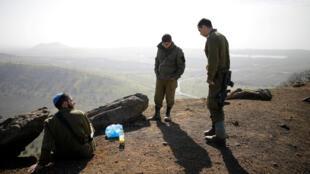 Lính Israeli gần Mount Bental, cao nguyên Golan. Ảnh 21/01/2019.