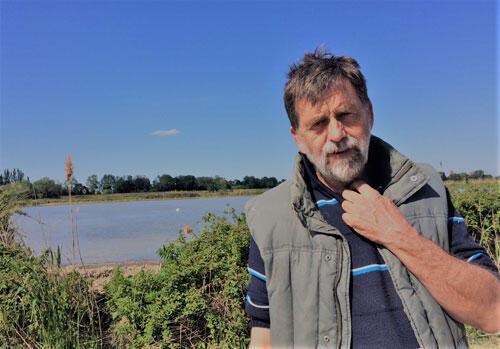 Bernard Poujol cultivaterur de riz en Camargue.