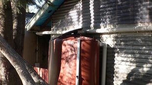 A rainwater tank