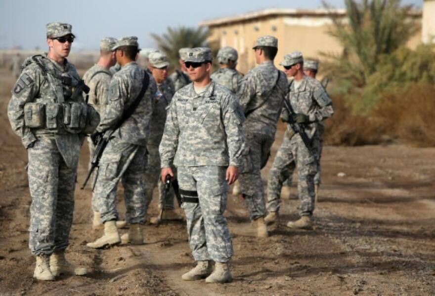سربازان آمریکایی در یک پایگاه نظامی در عراق