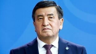 Le président du Kirghizistan, Sooronbay Jeenbekov, en avril 2019.