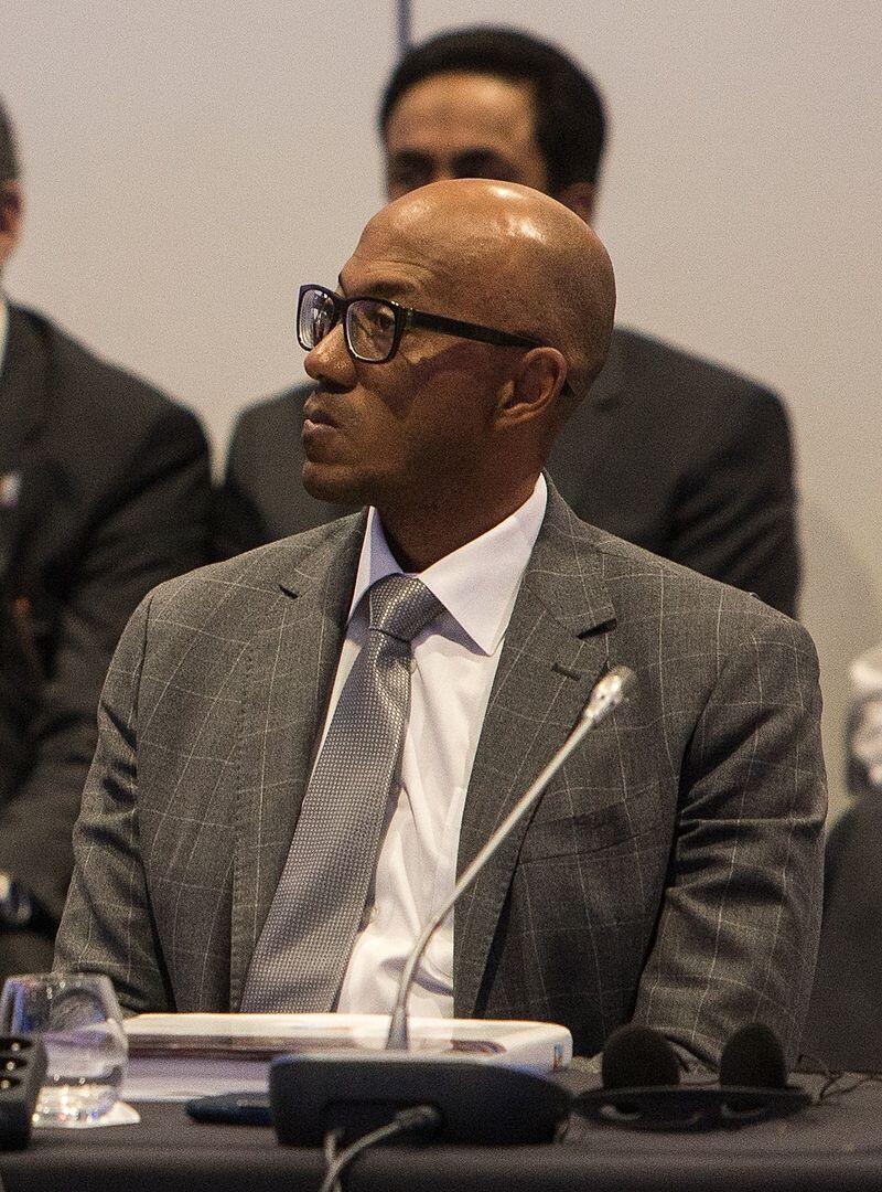 O ex-atleta namibiano Frankie Fredericks, que renunciou à presidência da Comissão de Avaliação dos Jogos Olímpicos de 2014.