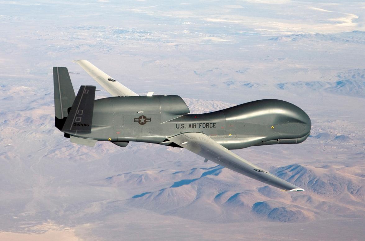 Foto sin de fecha de un dron U.S. Air Force RQ-4 Global Hawk.
