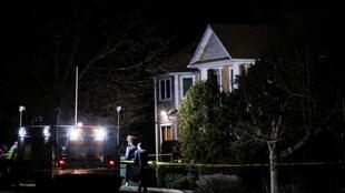 美国纽约州一名犹太教士住所2019年12月28日周六晚发生恐怖袭击事件 USA: Maison du rabbin hassidique à Monsey (État de New York), où une attaque terroriste s'est produite dans la soirée du 28 décembre 2019.