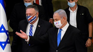 US Secretary of State Mike Pompeo (L) met Israeli Prime Minister Benjamin Netanyahu in Jerusalem as he started a five-day visit to the region that will also take him to Sudan, the United Arab Emirates and Bahrain