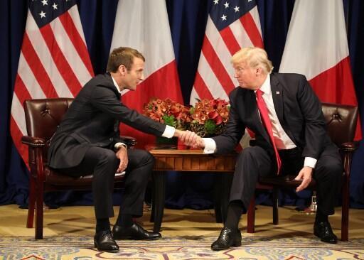 Hai tổng thống Pháp Emmanuel Macron và Mỹ Donald Trump đã từng gặp nhau nhiều lần, như tại New York ngày 18/09/2017 bên lề Đại Hội Đồng Liên Hiệp Quốc.