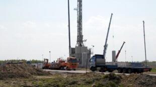 Explotación de gaz de esquisto en Grzebowilk, en el este de Polonia.