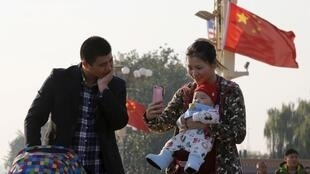 中國北京一對夫婦資料圖片