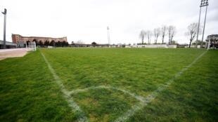 Un terrain de football à Saint-Denis, près de Paris, le 14 mars 2020