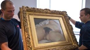 El cuadro pintado en 1866 de Gustave Courbet, está expuesto desde 1995 en el museo de Orsay.