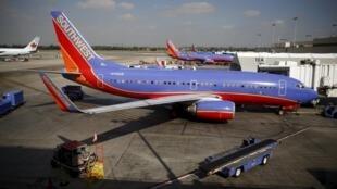 Máy bay của hãng Southwest Airlines.