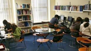 Una sala de trabajo en el Instituto OISE de Boston.