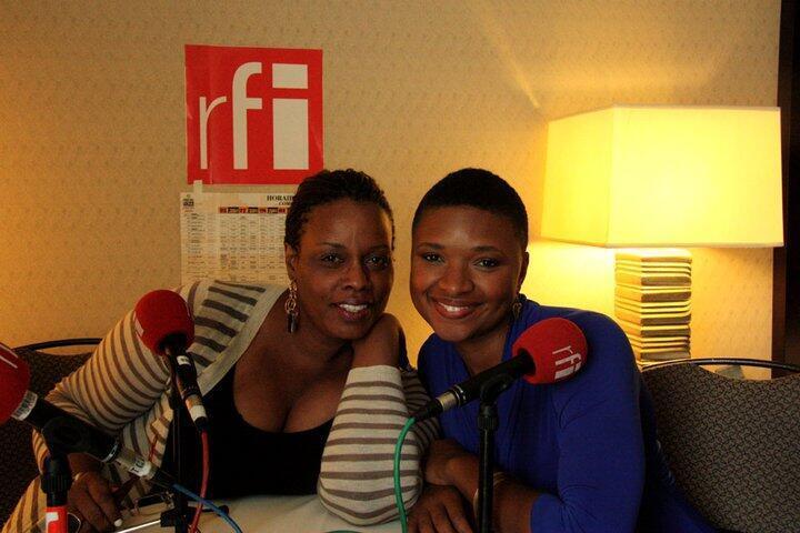 Dianne Reeves et Liz Wright dans le studio rfi chambre 332