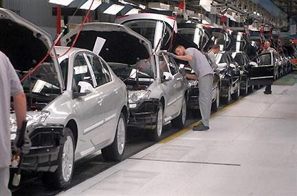 Fábrica da Renault em Sandouville, na alta Normandia.