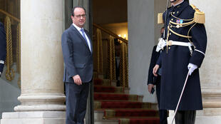 France's President Francois Hollande at the Elysée Palace on Thursday