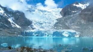 Glaciar de Sorata en Bolivia.