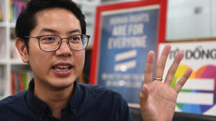 Luong The Huy, 32, is the first openly gay candidate running for Vietnam's National Assembly and one of just nine independents