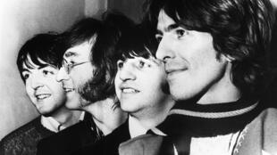 The Beatles, el 1 de enero de 1968 en Nueva York. De izquierda a derecha, Paul McCartney, John Lennon, Ringo Starr y George Harrisson