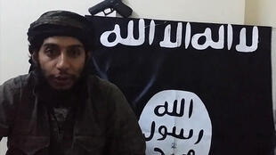 An image grab taken from a video released by the jihadist media arm Al-Hayat Media Centre on January 24, 2016, purportedly shows suspected Paris attacks mastermind Abdelhamid Abaaoud, also known by his nom de guerre Abu Umar al-Baljiki.