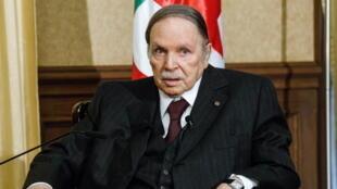 Le président algérien Abdelaziz Bouteflika en 2016.