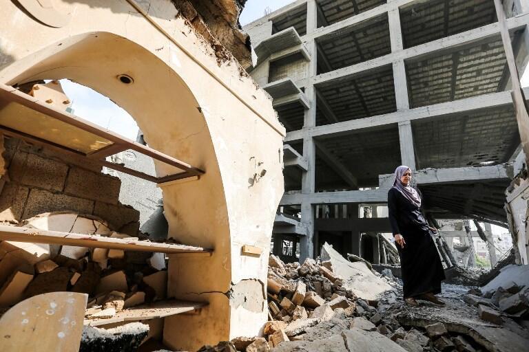 خرابیهای ناشی از حملات هوائی اسرائیل در غزه. شنبه ۲٣ تیر/ ١٤ ژوئیه ٢٠۱٨