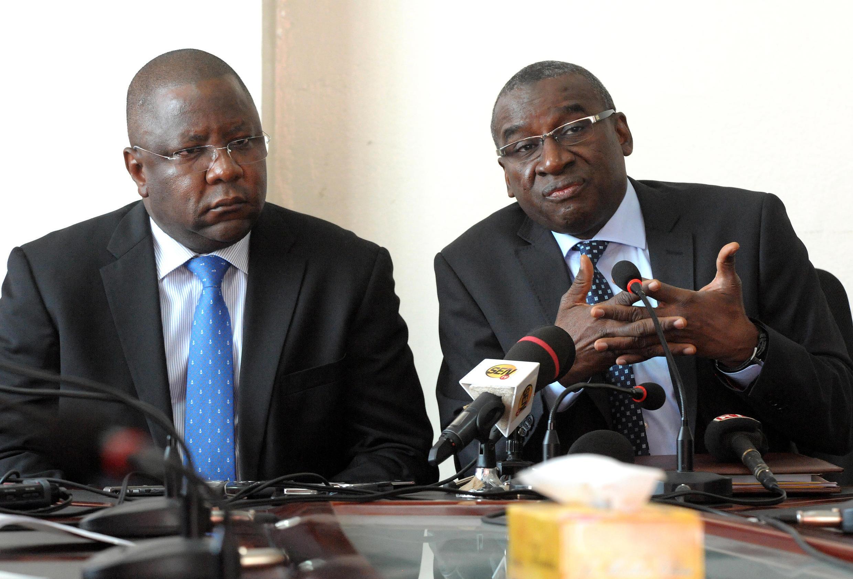 L'ancien ministre tchadien de la Justice, Jean-Bernard Padaré (à gauche).