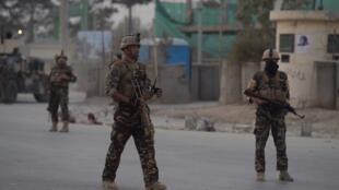 阿富汗政府军在喀布尔巡逻(资料照)