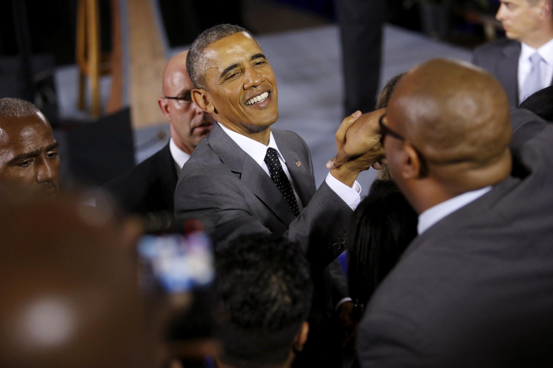 TT. Barack Obama tại Jamaica. Ảnh ngày 09/04/2015