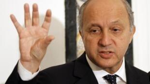 Министр иностранных дел Франции Лоран Фабиус 14/05/2013