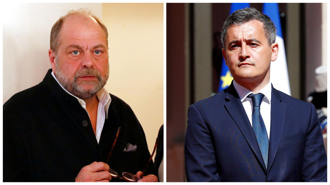 Os novos ministros do governo Macron: Eric Dupond-Moretti e Gerald Darmanin.