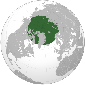 Orthographic Projection of the Arctic