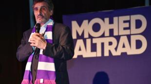 L'homme d'affaires Mohed Altrad ici en campagne des municipales à l'hôtel de ville de Montpellier, le 19 février 2020