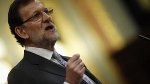 Le Premier ministre espagnol, Mariano Rajoy, lors de son discours, mercredi 20 février 2013.