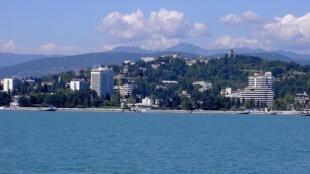 La ville balnéaire de Sotchi, au bord de la mer Noire.