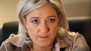 Глава французских крайне правых Марин Ле Пен
