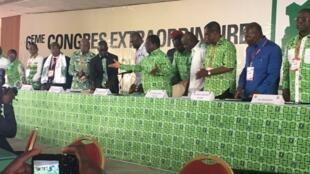 Congrès du PDCI à Daoukro, Côte d'Ivoire, le 15 octobre 2018.