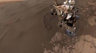 Curiosity en la órbita de Marte.