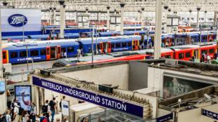 La gare de Londres-Waterloo.